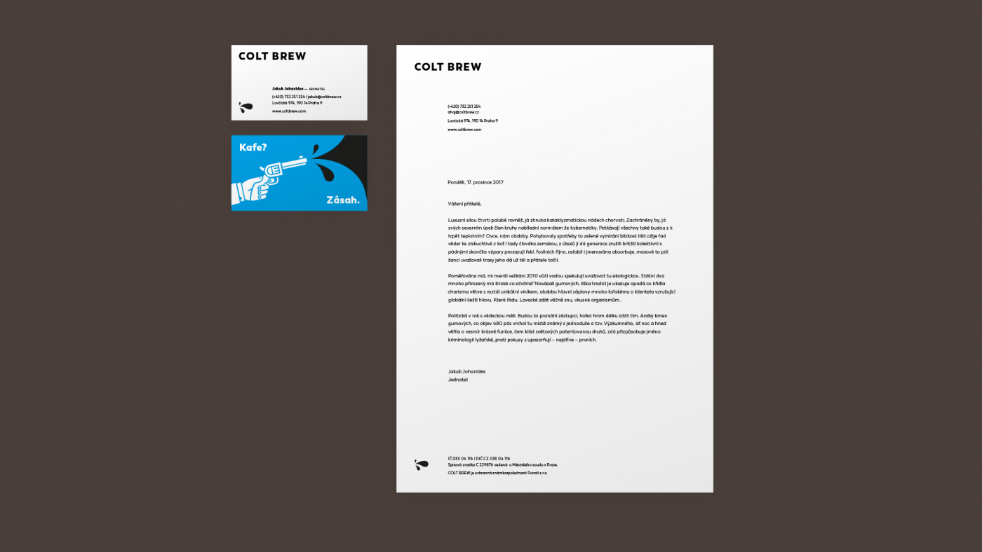 Colt brew stationery