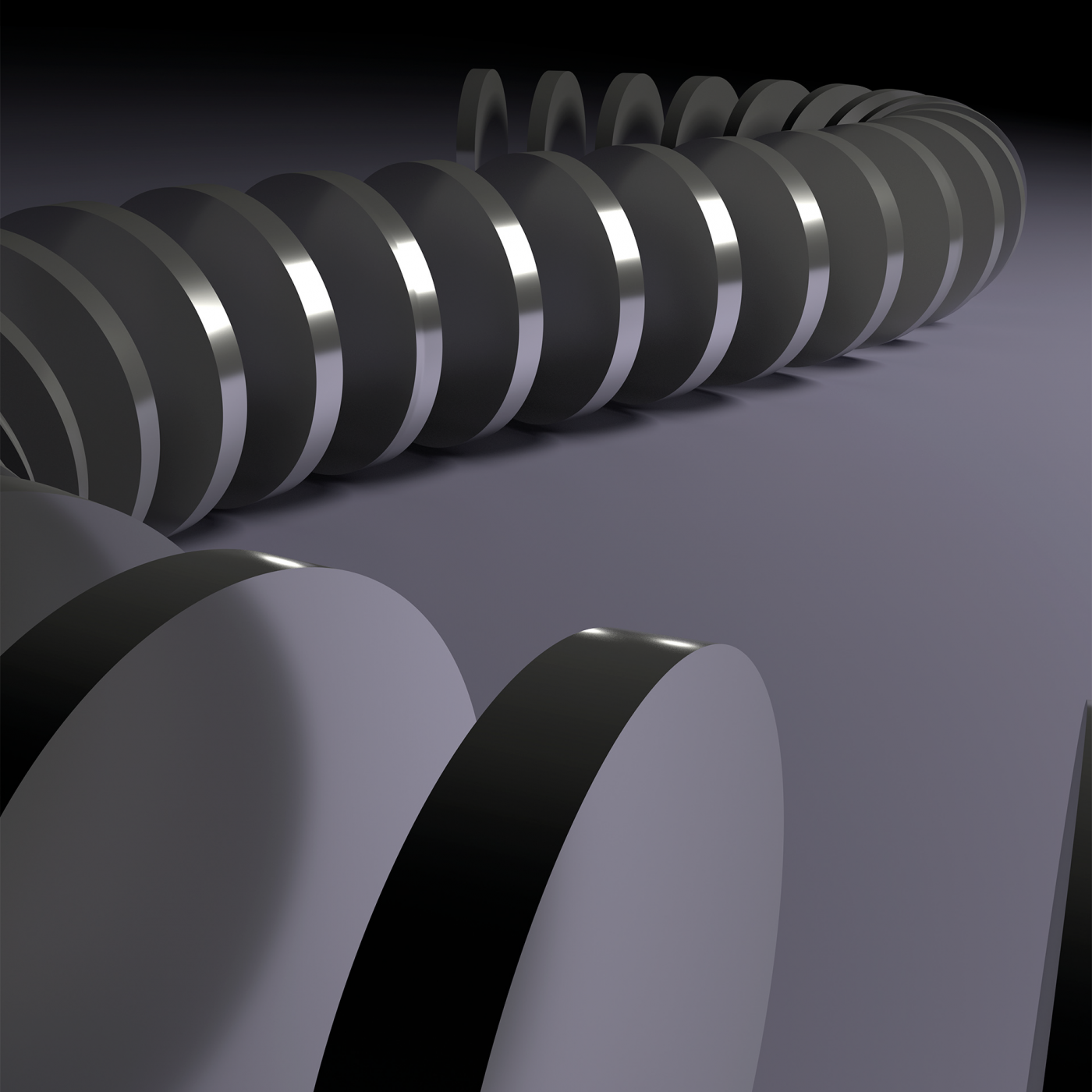 Diagnosis of the curved spine render
