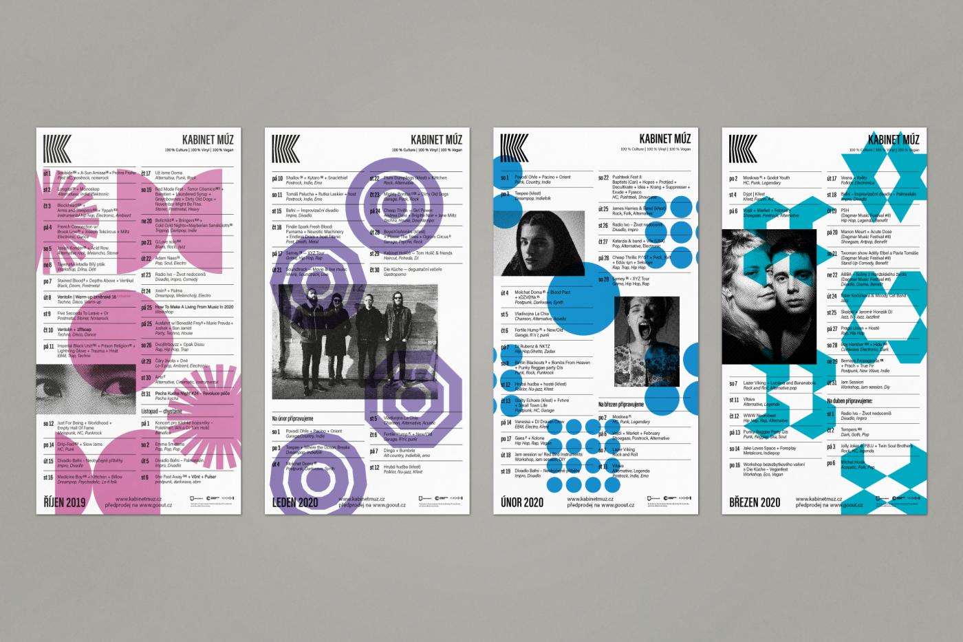 Kabinet můz – Program posters