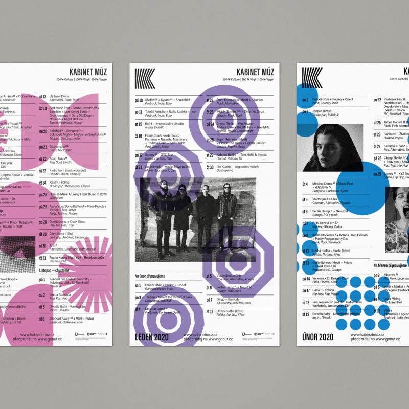 Kabinet můz – Programové plakáty